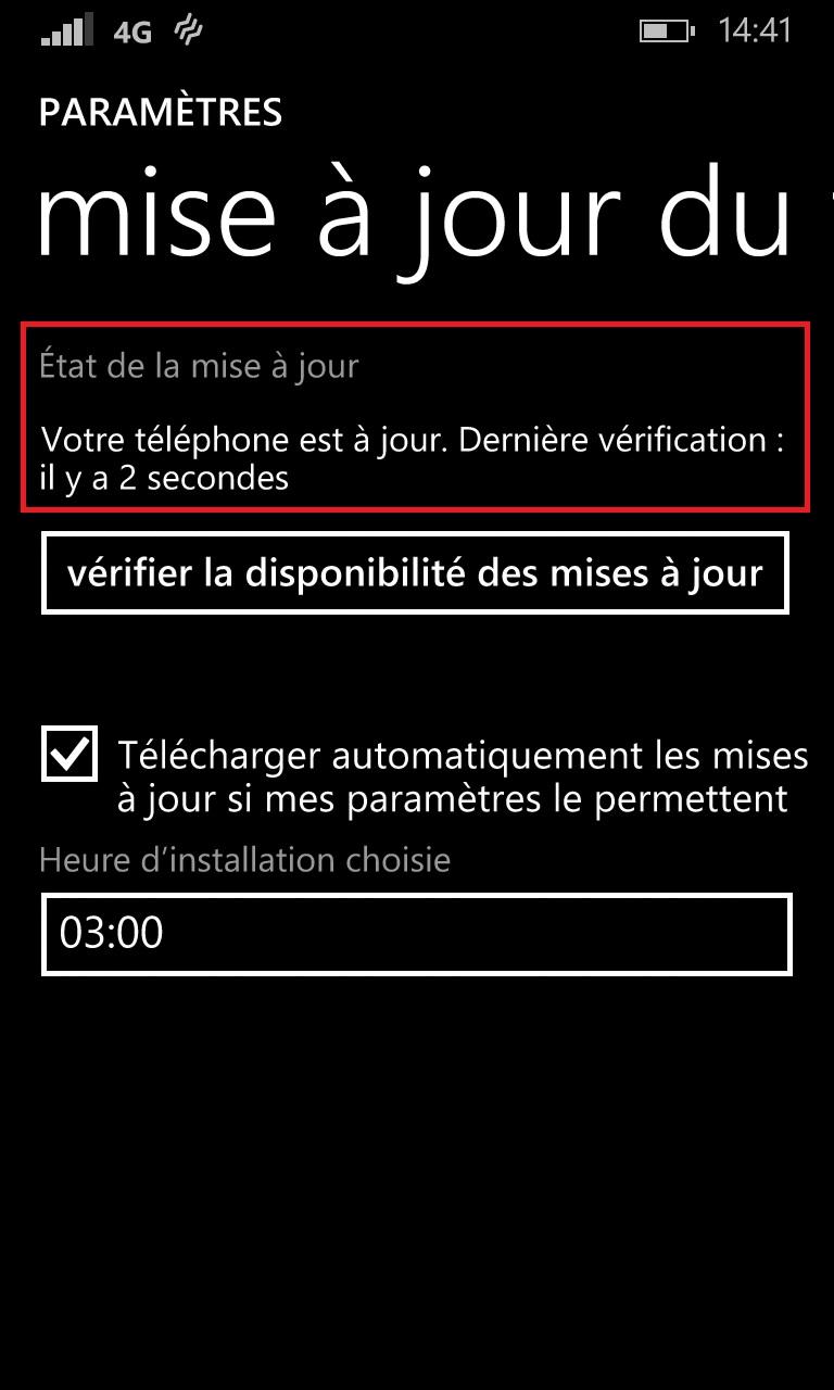 Sauvegarder restaurer mettre à jour son Lumia windows 8.1 mettre a jour 3