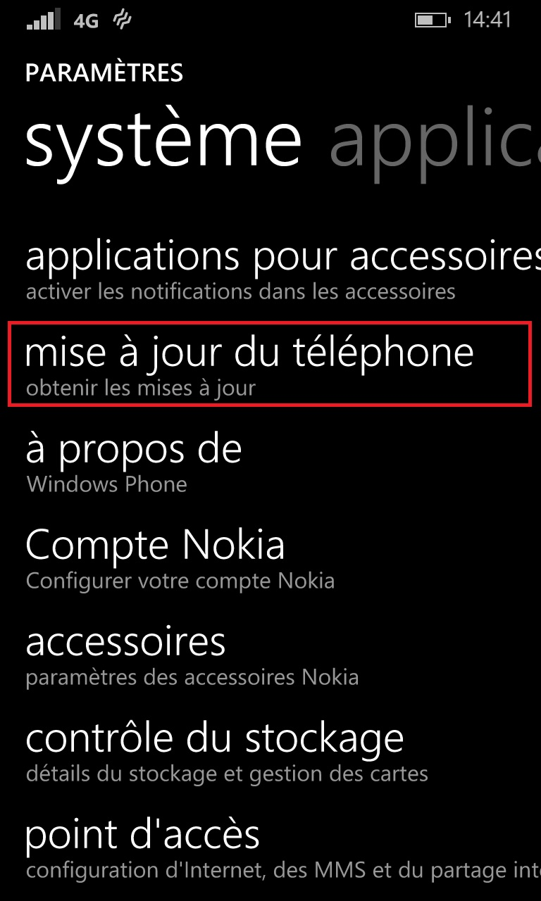 Sauvegarder restaurer mettre à jour son Lumia windows 8.1 mettre a jour