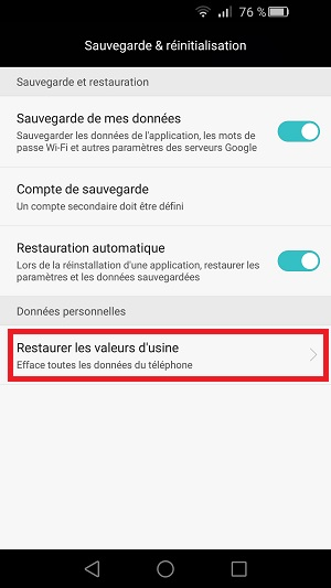 Restaurer Iphone  Usine
