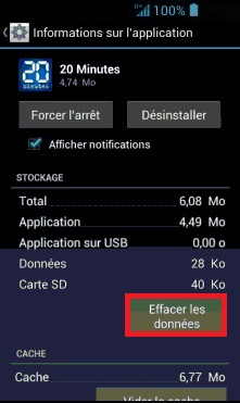 Applications Acer android 4 . 2 appli effacer donné