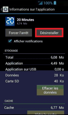 Applications Acer android 4 . 2 desinstaller