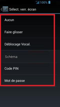 contact code pin ecran verrouillage Acer android 4.2 verr ecran