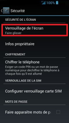 contact code pin ecran verrouillage Acer android 4.2 verrouillage ecran